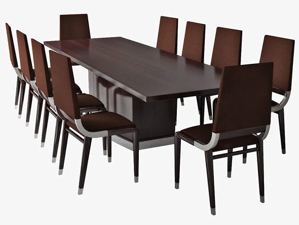 3DOcean table and chairs 19650187