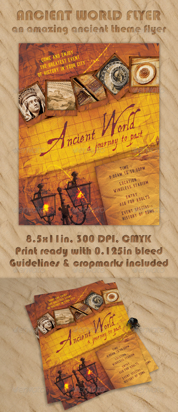 GraphicRiver Ancient World Flyer 224672