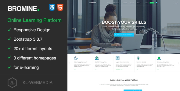 Download Bromine - Online Learning Platform HTML5 Template