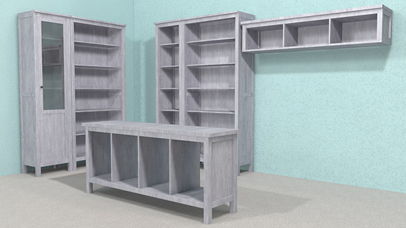 3DOcean Cabinet & console table & shelf 3D Model 19650761