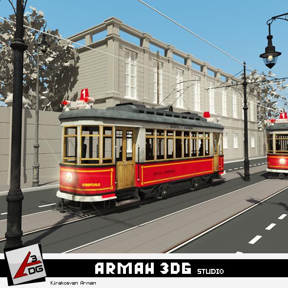 Tram - 3DOcean Item for Sale