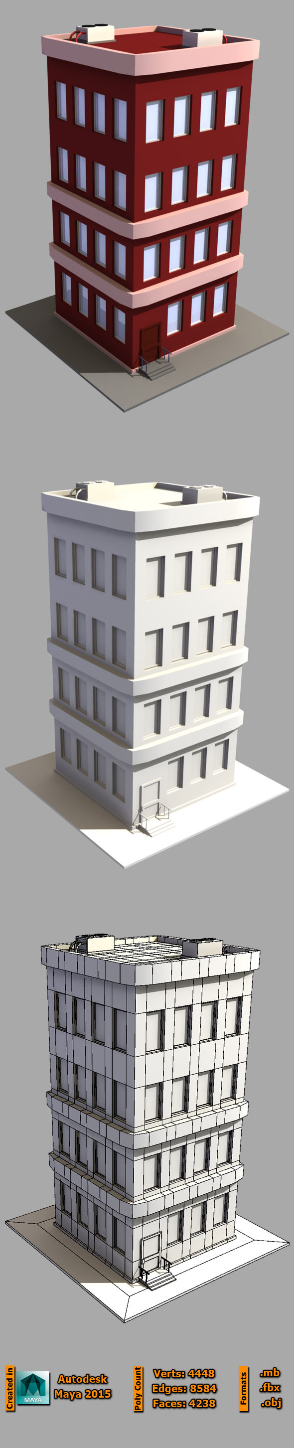 3DOcean Low Poly Building 19651042