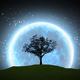 Growing Tree Silhouette On Full Moon - 10