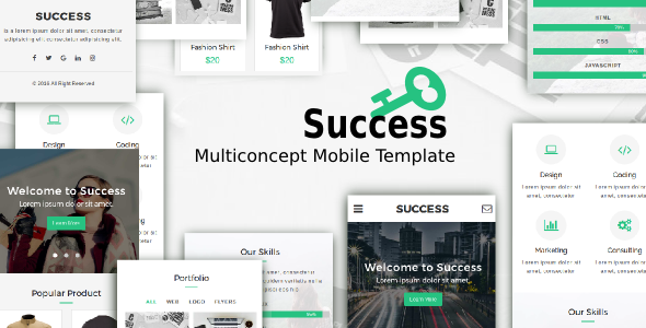 Success - Multiconcept Mobile Template