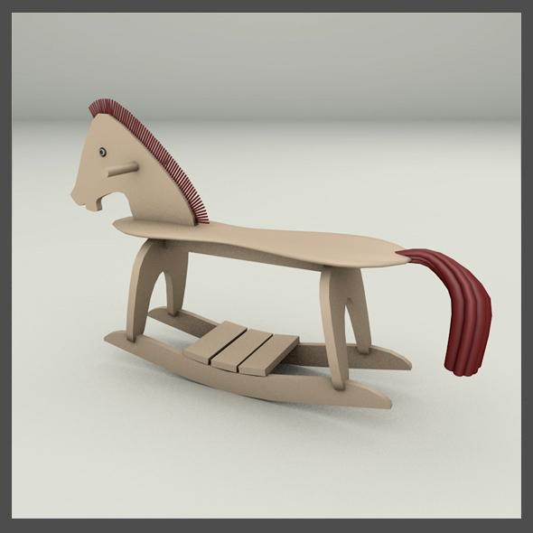 3DOcean Rocking Horse 19652727