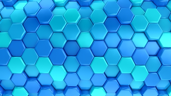 VideoHive Animated Honeycombs Changes Color 19652732
