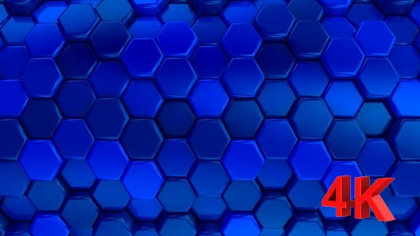 VideoHive Animated Honeycombs Changes Color 19652739