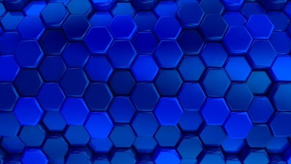 VideoHive Animated Honeycombs Changes Color 19652747