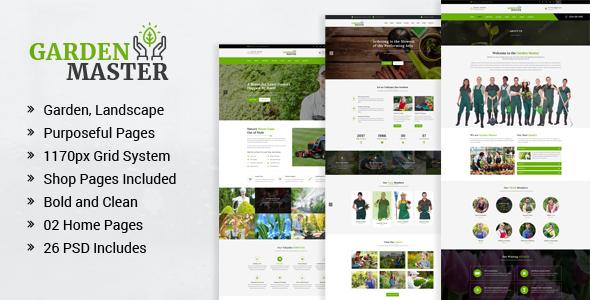 Garden Master - Gardening and Landscaping PSD Template