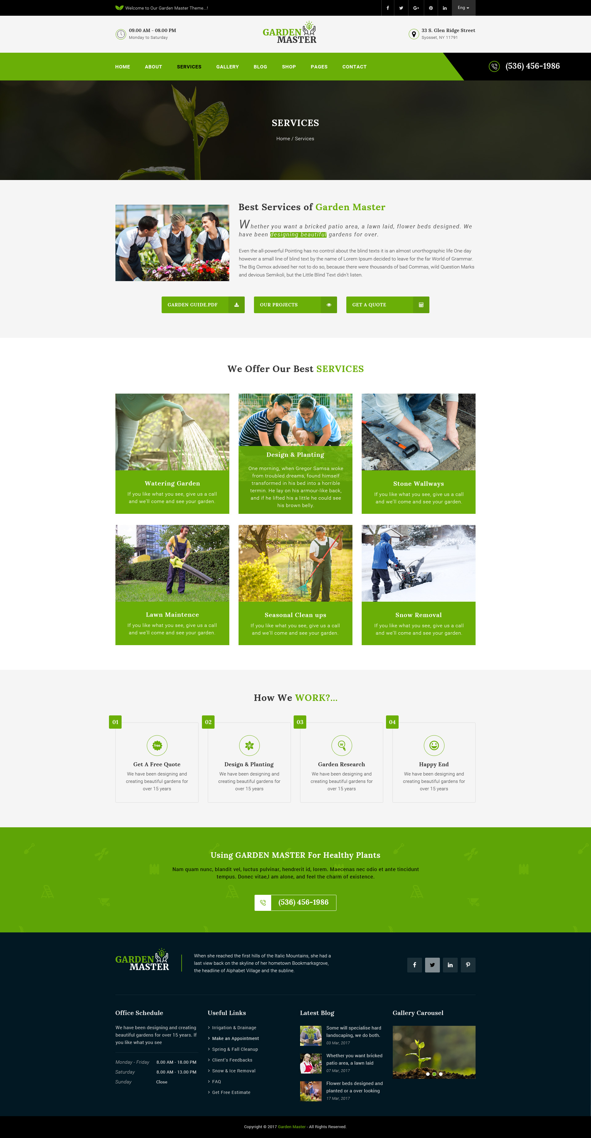 Garden Master Gardening and Landscaping PSD Template by DigitalHeaps
