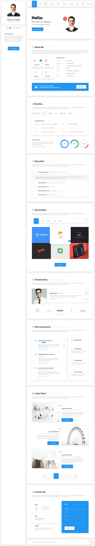 Hello - Resume, CV, vCard & Portfolio Material HTML Template