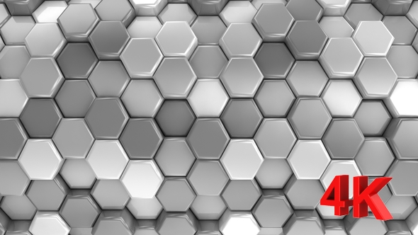 VideoHive Animated Honeycombs Changes Color 19652882