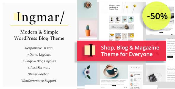 Download Ingmar - Modern Blog & Magazine WordPress Theme