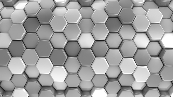 VideoHive Animated Honeycombs Changes Color 19652892