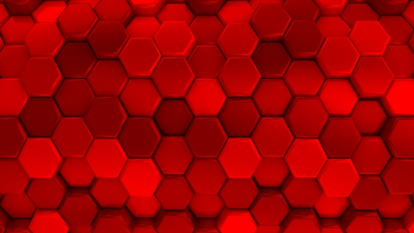 VideoHive Animated Honeycombs Changes Color 19652929
