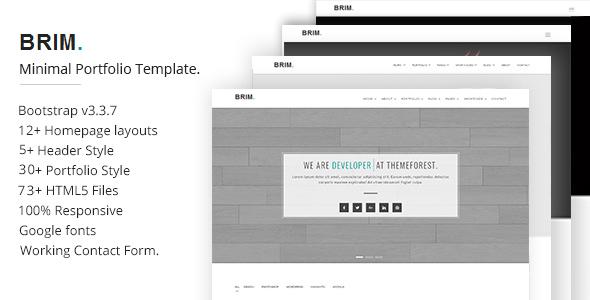 Download Brim Minimal Portfolio Template