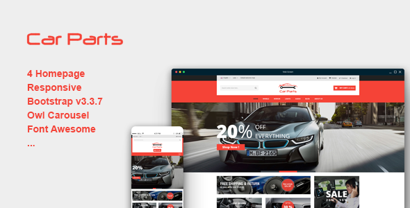 Carparts - Responsive eCommerce Template