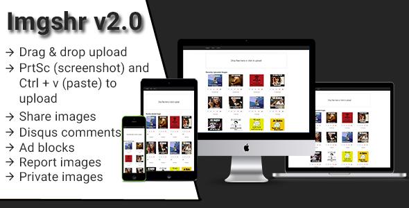 Imgshr v2 - Easy Snapshot, Image Upload & Sharing Script ← Laravel