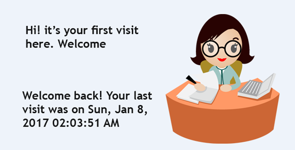 """""""Your last visit was on ..."""" - by Receptionist PlugIn - CodeCanyon Item for Sale"""