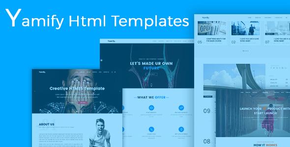 Yanify-HTML Responsive Multi-Purpose Template