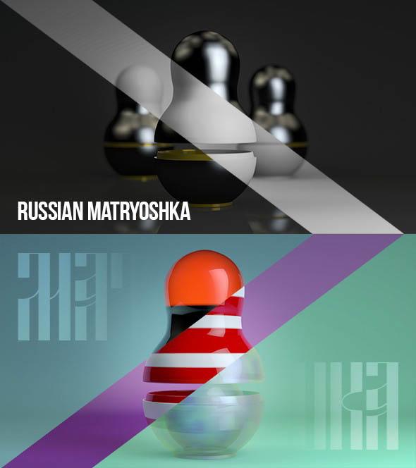 3DOcean Matryoshka doll 19654855