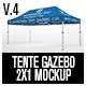 Tente Gazebo 2x1 Mockup Vol 04