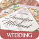 Taupe & Peach Floral Wedding Invitation Pack