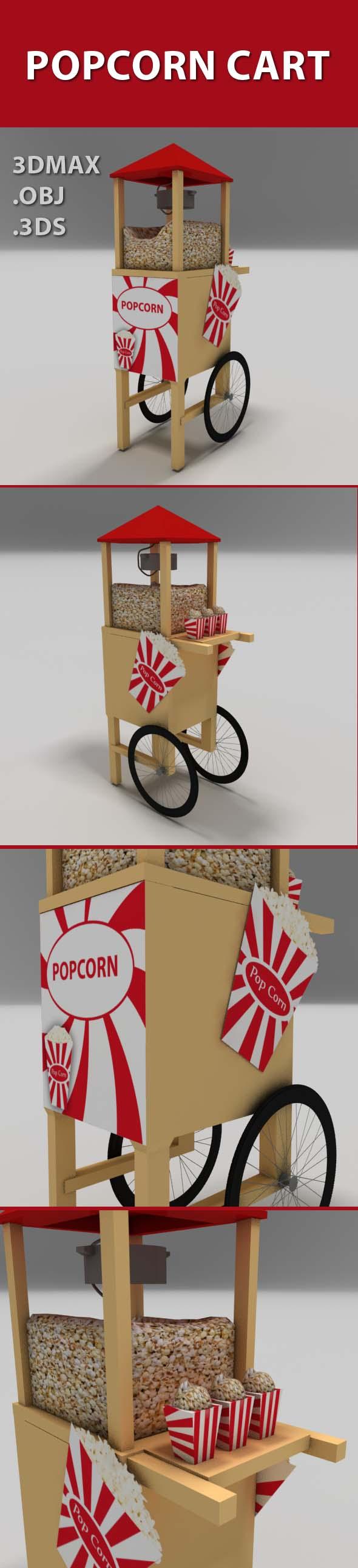3DOcean Popcorn cart 19655844