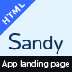 SANDY - One Page Apps Landing Page