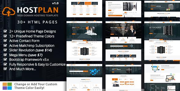 HostPlan - Responsive Domain Hosting HTML5 Template