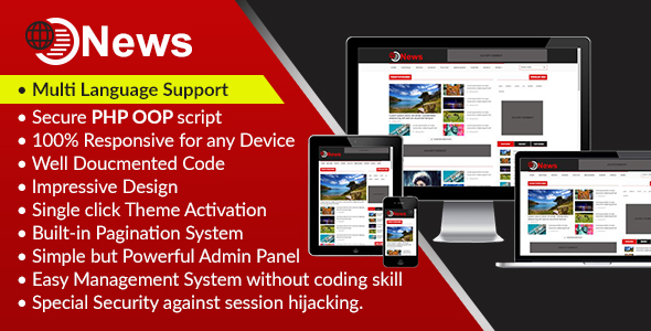 News – Dynamic Newspaper, Magazine and Weblog CMS Script (PHP Scripts)