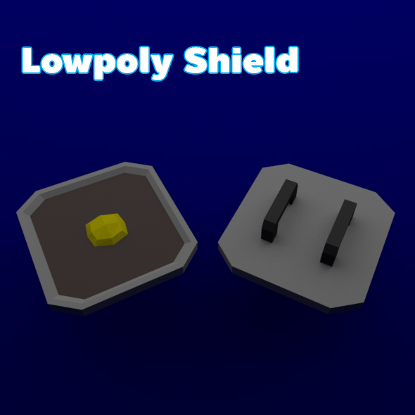3DOcean Lowpoly Shield 19656204