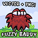 Fuzzy Baddy Game Character