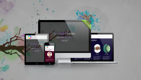 Download Tech Solutions - Responsive Muse Template