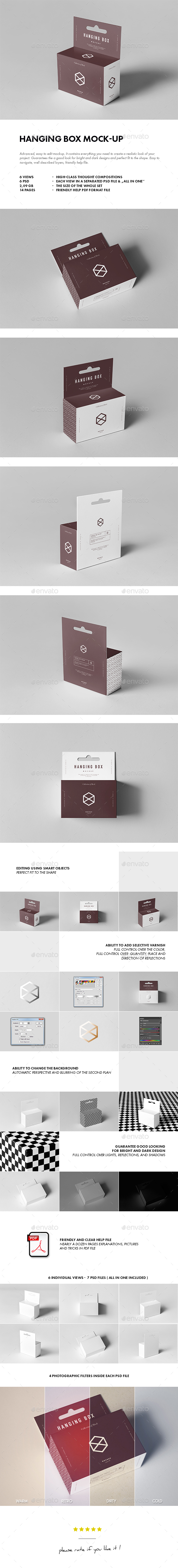 Graphicriver Hanging Box Mock-up 19656456