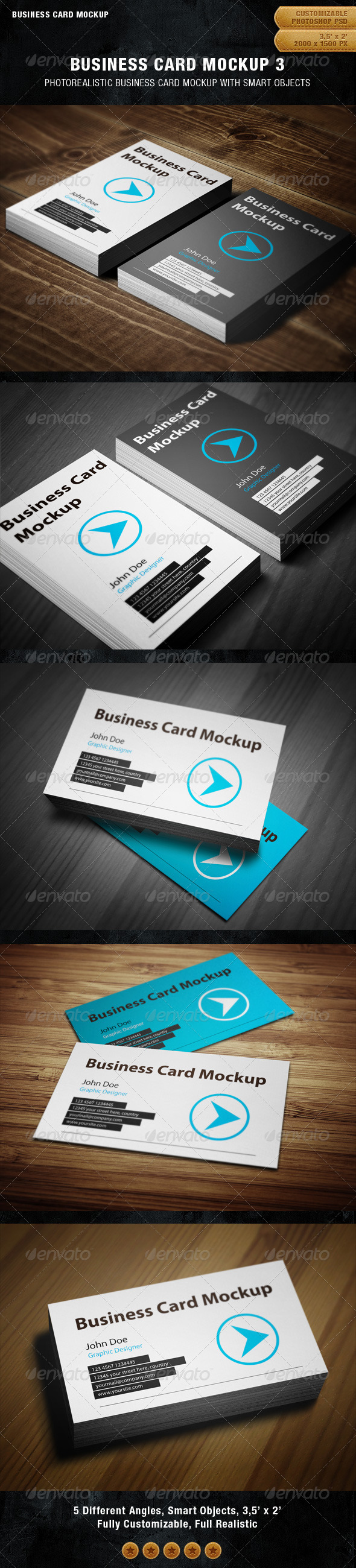 GraphicRiver Business Card Mockup 3 1927088