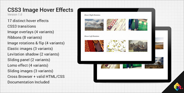 CodeCanyon CSS3 Image Hover Effects 471215