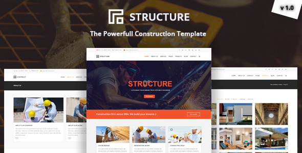 Download Structure - Construction, Building Business Template
