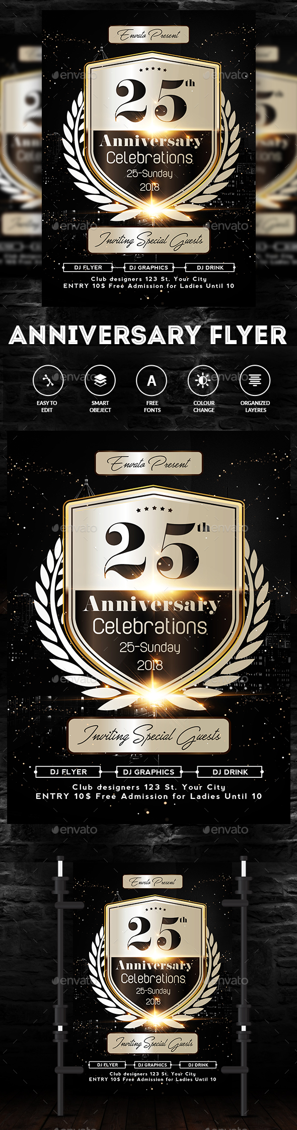 Graphicriver Anniversary Flyer 19657327
