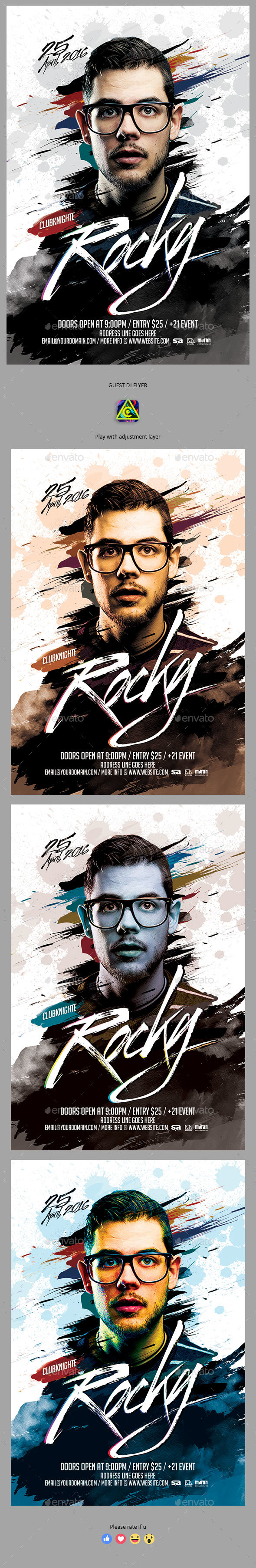 Graphicriver Guest DJ Flyer 19657332