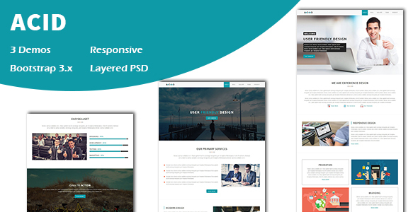 Download Acid - Multipurpose Responsive One page HTML Template