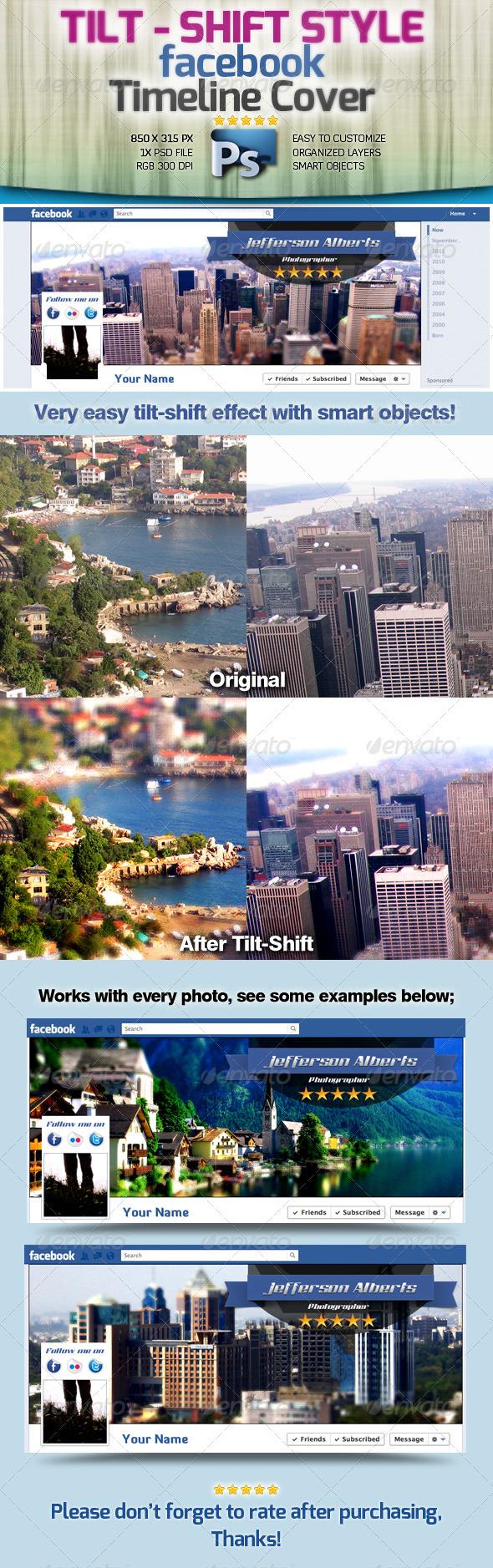 GraphicRiver Tilt-Shift Style Facebook Timeline Cover 1927129