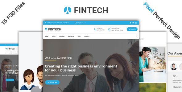 Fintech - Business, Finance & Corporate Template