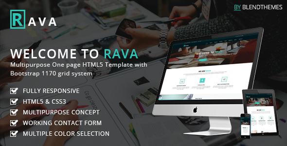 Rava - Creative One Page Multipurpose HTML Template