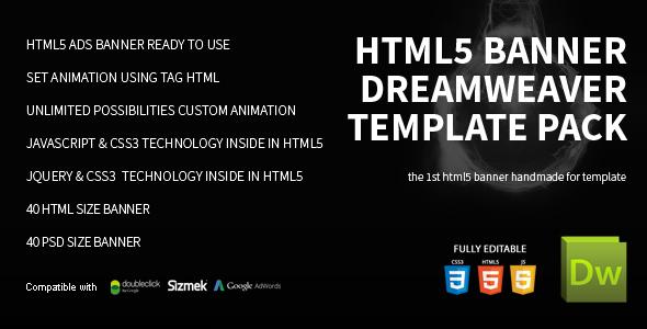 Download HTML5 Banner Dreamweaver Bundle Template