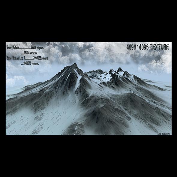3DOcean snow mountain 19658795