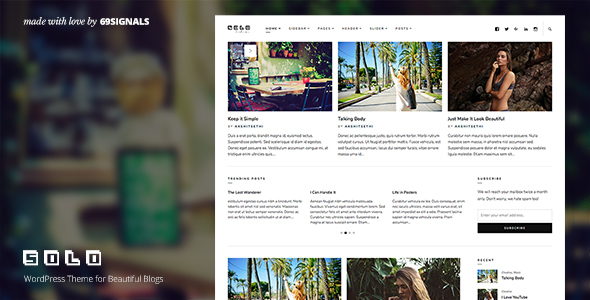 Solo - WordPress Theme for Beautiful Blogs