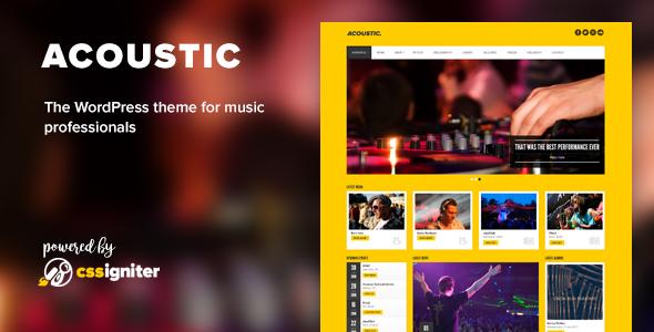 Acoustic - Premium Music WordPress Theme
