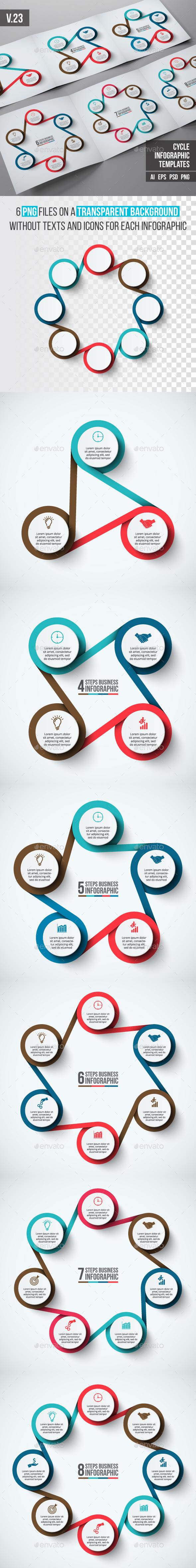Infographics template set v.23