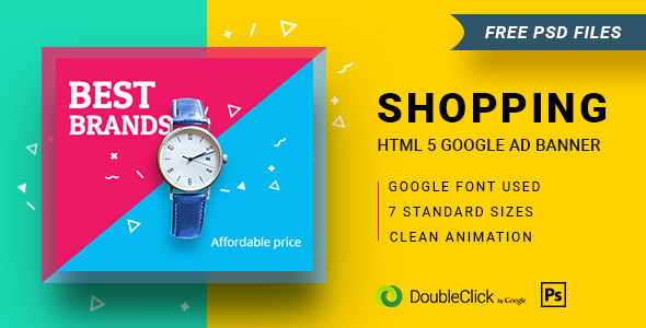 Download Shopping - HTML5 Animated Banner 16